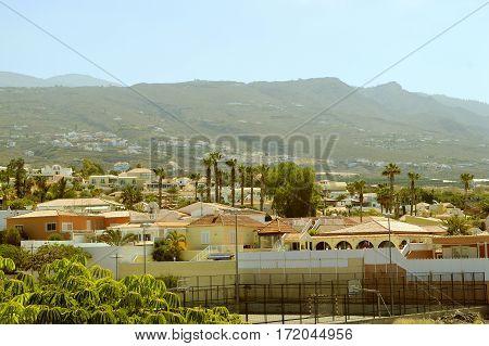 A view of Callao Salvaje hotels in Adeje Tenerife