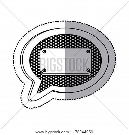 emblem bubble with plaque icon image, vector illustration