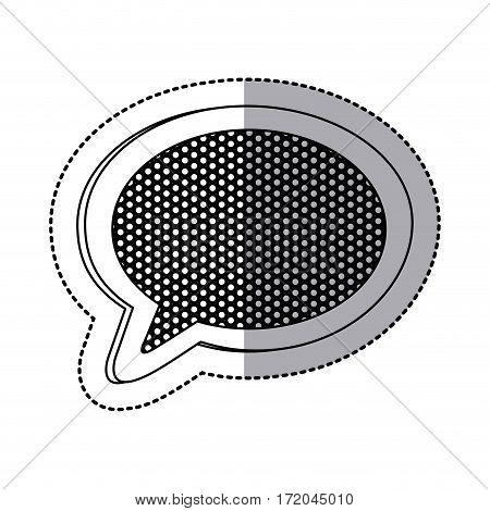 emblem chat bubble icon image, vector illustration