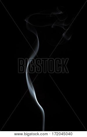 Abstract Fine White Line of Smoke Flowing Background