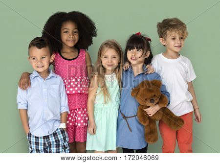Group of Kids Portrait Diversity Children