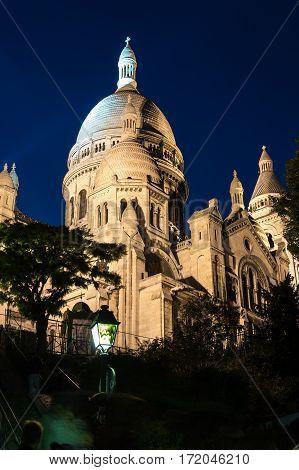 The Basilica of the Sacred Heart of Paris known as Basilique du Sacre Coeur Paris France