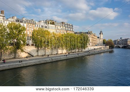Cite island in the historical centre of Paris the capital and most visited city of France