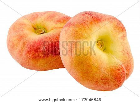 Saturn Peaches, Also Known As Donut (doughnut) Peaches, Are A Variety Of Peach With White Flesh And