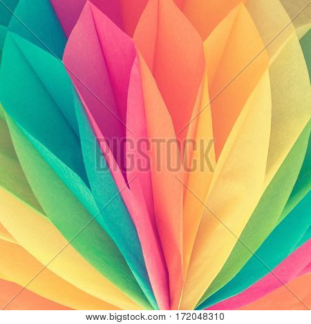 Close-up of beautiful colorful paper background or texture