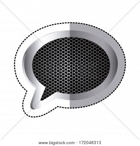 emblem chat bubble icon image, vector illustration