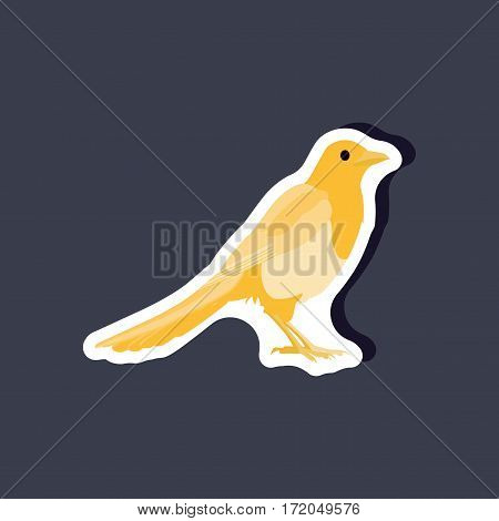 magpie paper sticker on stylish background isolated