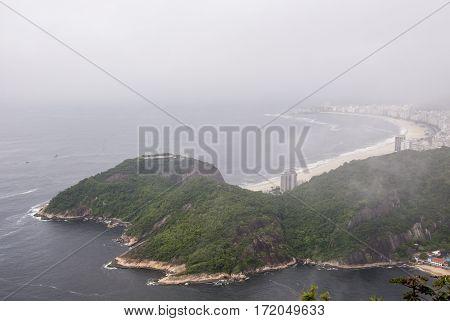 Copacabana Beach as seen from Sugarloaf Mountain - Rio de Janeiro - Brazil - December 19th 2013