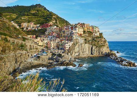 View Of Manarola, Cinque Terre, Liguria, Italy