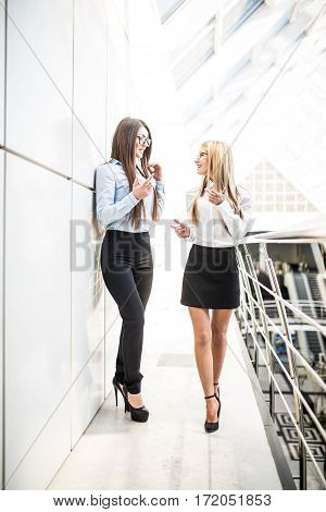 Businesswomen discussing plans in modern office. Office concept.