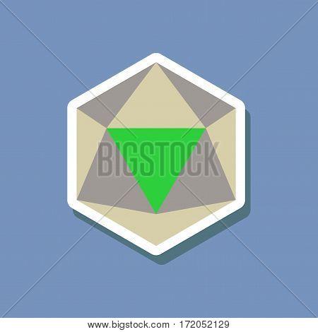 paper sticker on stylish background isolated virus