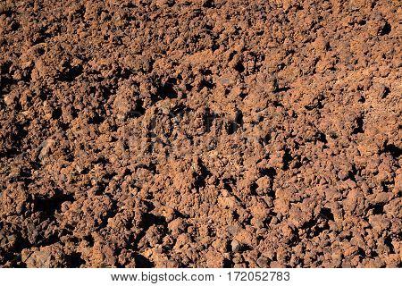 Lava background Teide National Park in Tenerife Canary Islands Spain