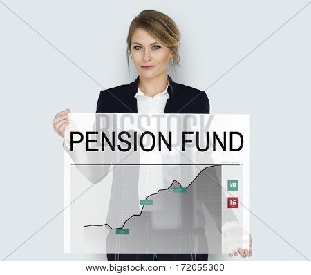 Pension Fund Retirement Chart Concept
