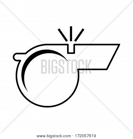 referee whistle isolated icon vector illustration design