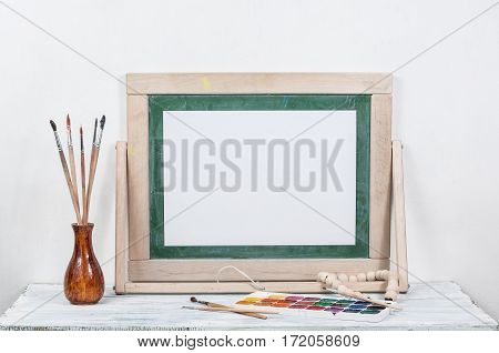 Frame For A Picture On A Wooden Table