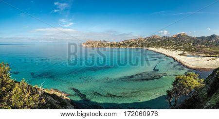 Turquoise Mediterranean At Ostriconi Beach In Corsica