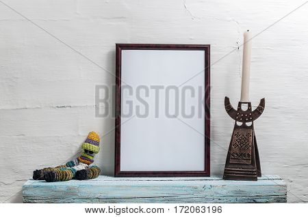 Empty Frame For An Inscription