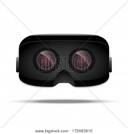 Virtual reality 3d concept device. Digital electronic entertainment. VR glass. Innovation technology front view.