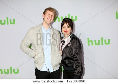 PASADENA - JAN 7:  Josh Thomas, Emily Barclay at the HULU TCA Winter 2017 Photo Call at the Langham Hotel on January 7, 2017 in Pasaden, CA