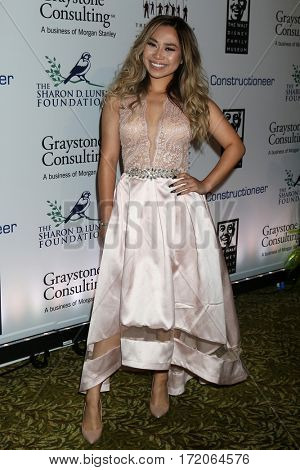 LOS ANGELES - NOV 1:  Jessica Sanchez at the The Walt Disney Family Museum 2nd Annual Fundraising Gala at Disney's Grand Californian Hotel & Spa on November 1, 2016 in Anaheim, CA