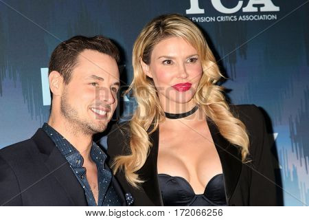 LOS ANGELES - JAN 11:  Dean Sheremet, Brandi Glanville at the FOXTV TCA Winter 2017 All-Star Party at Langham Hotel on January 11, 2017 in Pasadena, CA