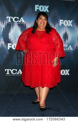 LOS ANGELES - JAN 11:  Carla Jimenez at the FOXTV TCA Winter 2017 All-Star Party at Langham Hotel on January 11, 2017 in Pasadena, CA