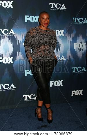 LOS ANGELES - JAN 11:  Aisha Hinds at the FOXTV TCA Winter 2017 All-Star Party at Langham Hotel on January 11, 2017 in Pasadena, CA