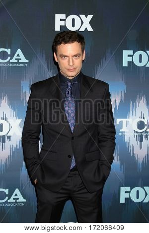 LOS ANGELES - JAN 11:  Justin Kirk at the FOXTV TCA Winter 2017 All-Star Party at Langham Hotel on January 11, 2017 in Pasadena, CA