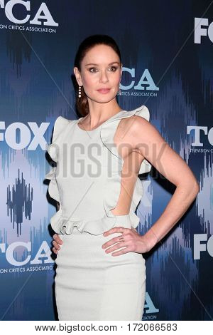 LOS ANGELES - JAN 11:  Sarah Wayne Callies at the FOXTV TCA Winter 2017 All-Star Party at Langham Hotel on January 11, 2017 in Pasadena, CA
