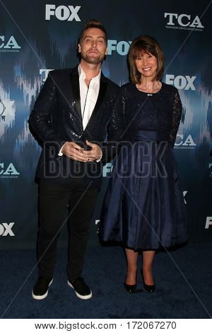 LOS ANGELES - JAN 11:  Lance Bass, Diane Bass at the FOXTV TCA Winter 2017 All-Star Party at Langham Hotel on January 11, 2017 in Pasadena, CA