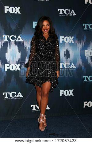 LOS ANGELES - JAN 11:  Sanaa Lathan at the FOXTV TCA Winter 2017 All-Star Party at Langham Hotel on January 11, 2017 in Pasadena, CA