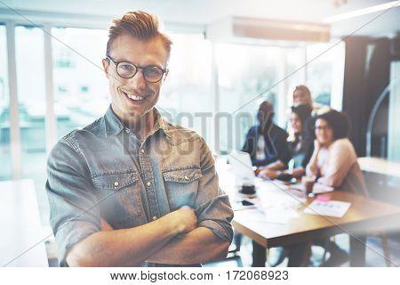 Young Self Confident Entrepreneur Posing To Camera