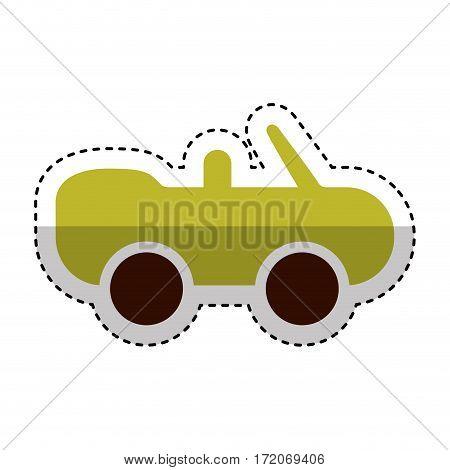 car covertible silhouette icon vector illustration design