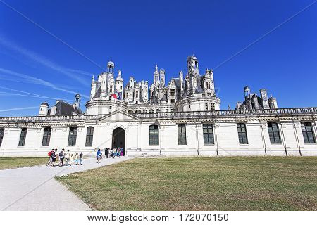 View Of The Chambord Chateau