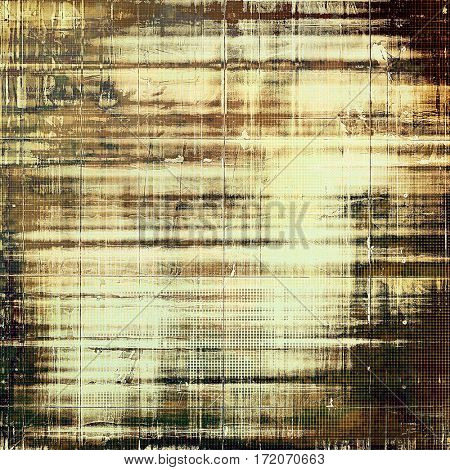 Retro style background with grungy vintage texture and different color patterns: yellow (beige); brown; gray; white