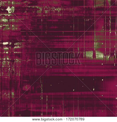 Highly detailed scratched texture, aged grungy background. Vintage style composition with different color patterns: gray; green; purple (violet); pink