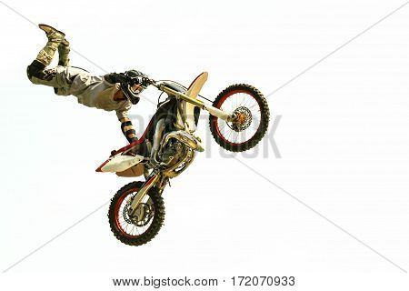 Biker Jump At The Trial Show