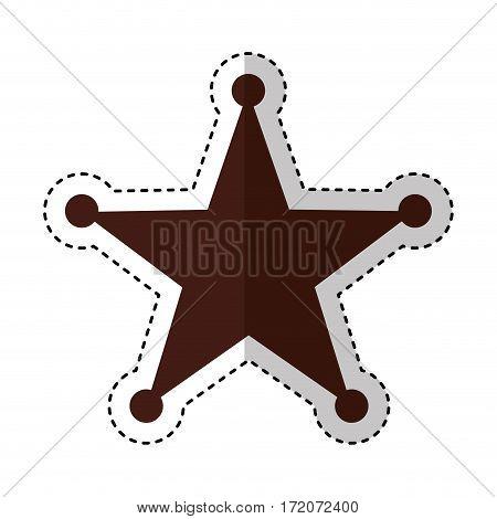 sherif star medal icon vector illustration design