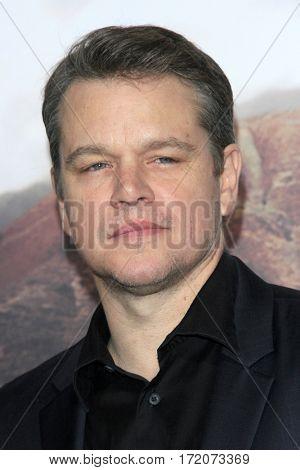 LOS ANGELES - FEB 15:  Matt Damon at
