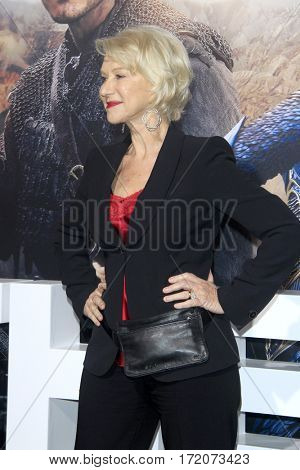 LOS ANGELES - FEB 15:  Helen Mirren at