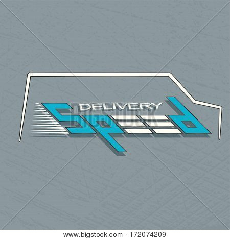 Delivery company logo. Fast car logotype . Courier service.