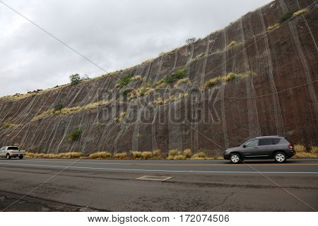 Falling Rock Protection Fences. Rock Slide Mesh or wire. Rock Slide Fence.