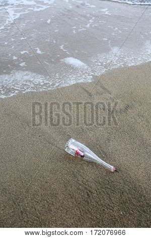 Love Note. Message in a bottle. Love Note in a bottle.