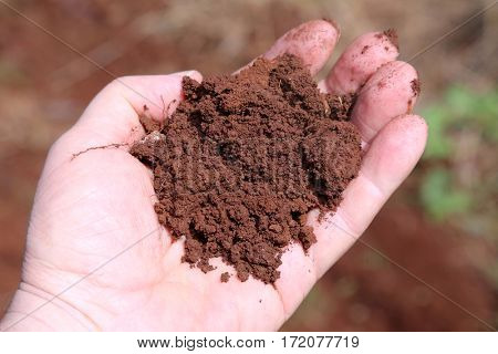 red dirt. red earth. maui Hawaii red dirt. iron rich earth on the island of maui Hawaii.  volcanic clay.