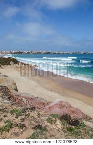 Lagido Surf Break at Baleal. This area near to Peniche - Portugal is a popular surfing destination