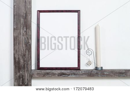 Blank Frame In The Rural Interior