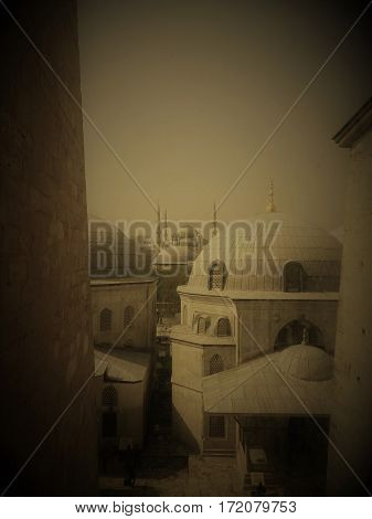 Turkey, Istanbul, Habia Sophia, Window, Overlook, Landscape