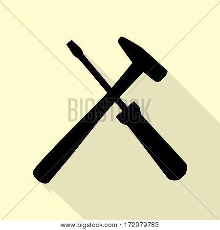 Tools sign illustration. Flat style black icon on white.