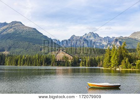 Mountain Lake Strbske Pleso, High Tatras, Slovakia