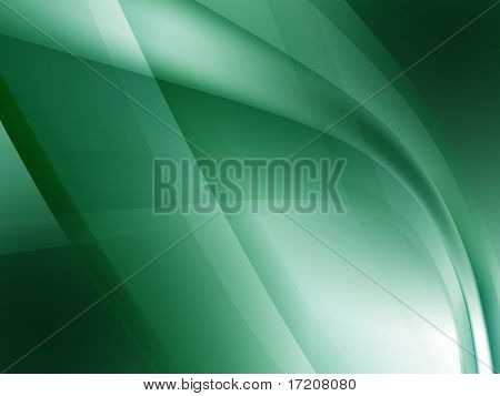 Abstract green waves background, 3d rendering